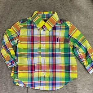 Plaid button down Ralph Lauren shirt